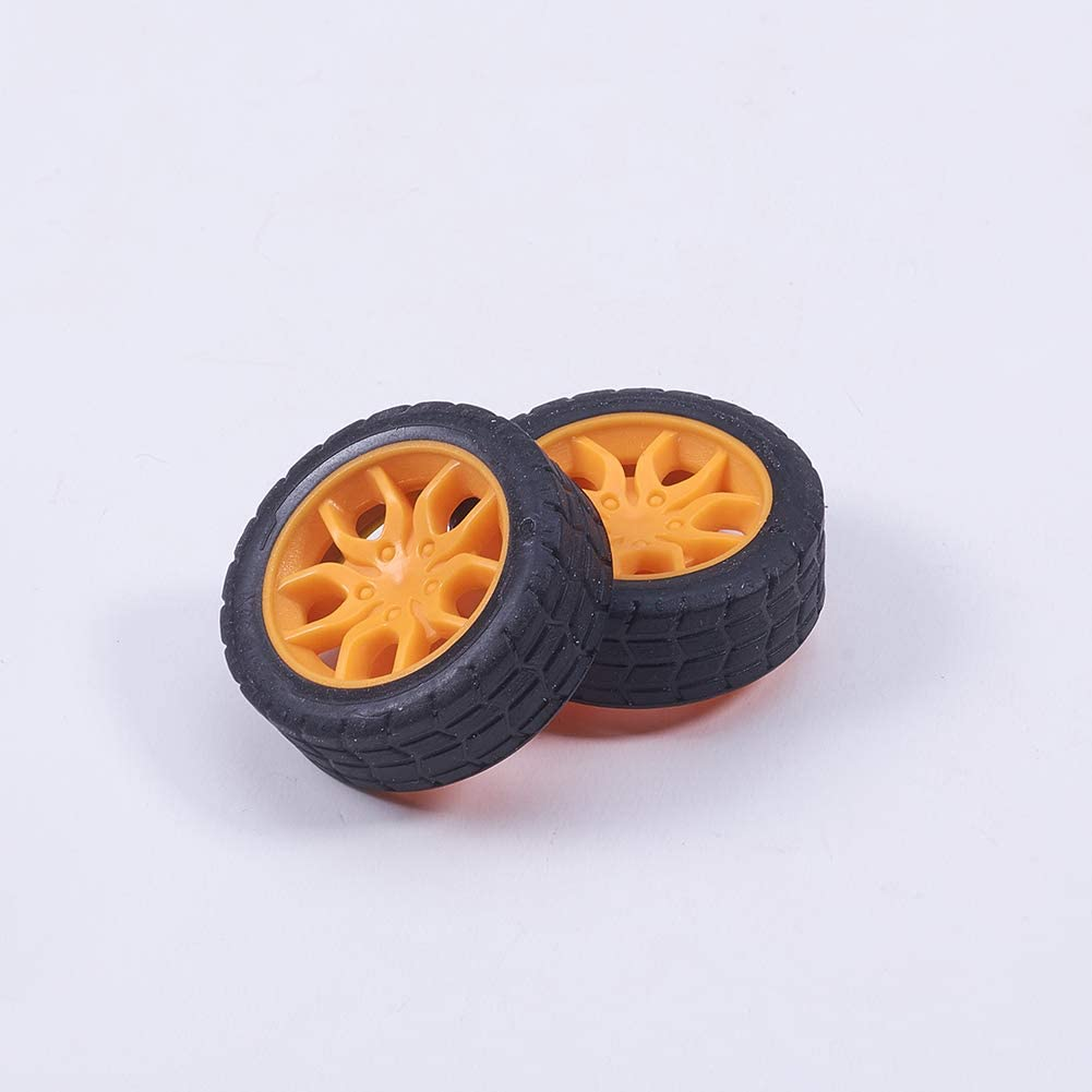 MroMax 30mm Rubber Toy Car Wheel Tires DIY Model Robots 4pcs Good Wear Resistance Red and Black