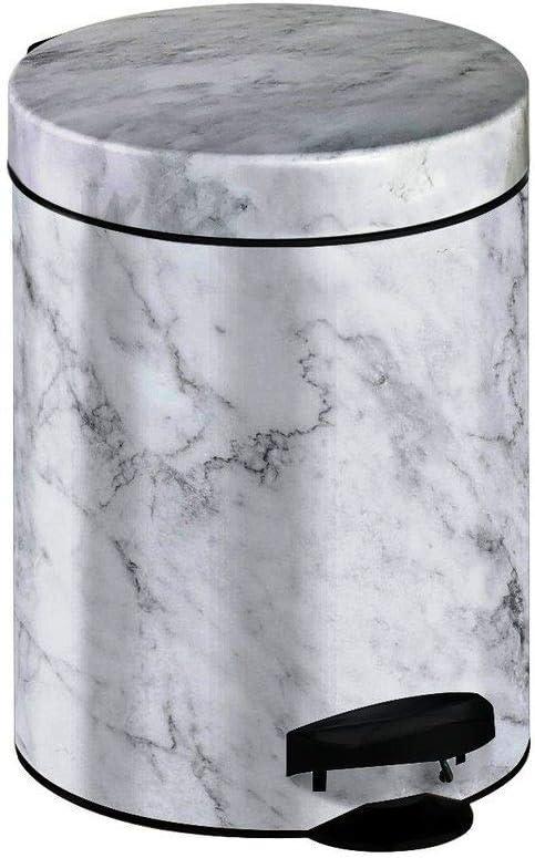 Meliconi Pattumiera Metallo 5 Litri Marmo