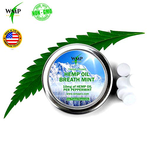 Hemp Candy Mints - Best Natural Minty Edibles for Relaxing, Stress, Better Sleep, Pain, Anxiety Relief, Weight Loss - Peppermint Flavored Candies, No THC, 0 Calorie - 2 Pack, 56 Mints