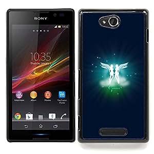 Gemini Twins Zodiac Sign Caja protectora de pl??stico duro Dise?¡Àado King Case For Sony Xperia C S39h C2305