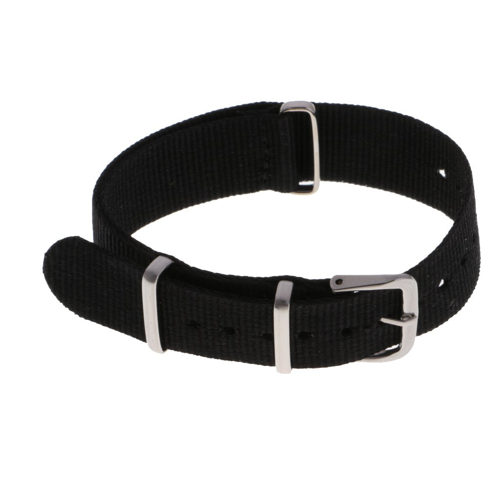 MonkeyJack Nylon Strap Band Stainless Steel Buckle Replacement 18mm/20mm/22mm Multi Color