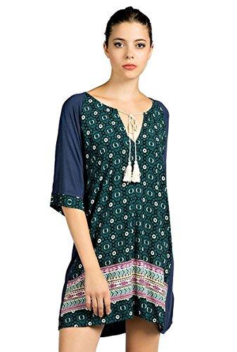Twin Print Knit Dress - 6