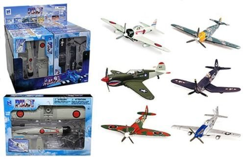 E-Z Build WWII Fighter Model Kit 6-pack ()