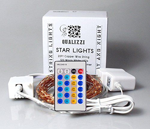 Starry Lights with Remote Control / Dimmer - Various Lengths (20Ft / 120 LEDs)