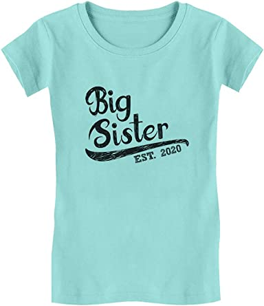Big Sister for Big Sister Toddler//Kids Girls Fitted T-Shirt