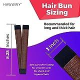 Hawwwy 3-Piece Hair Bun Maker, Easy Fast Snap Roll