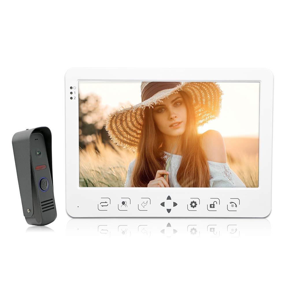 "Jeatone 10"" Video Door Intercom Door Phone Recording Doorbell Camera Intercom 10Inch 1200TVL HD Monitor 1V1"
