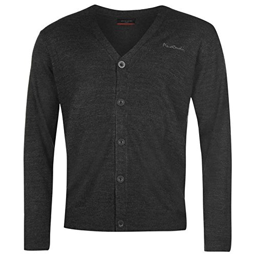 Pierre Cardin Cardigan pour homme Gris anthracite Pull Top