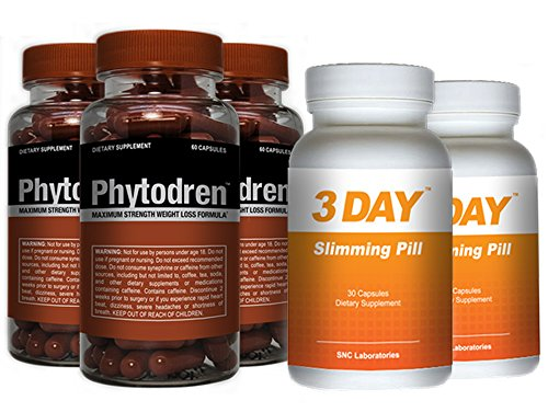 Phytodren 3 Bottles & 2 FREE 72hr Slimming- Hardcore Weight Loss - Burn Fat - Boost Energy Levels - Eat Less by Advantage Nutraceuticals