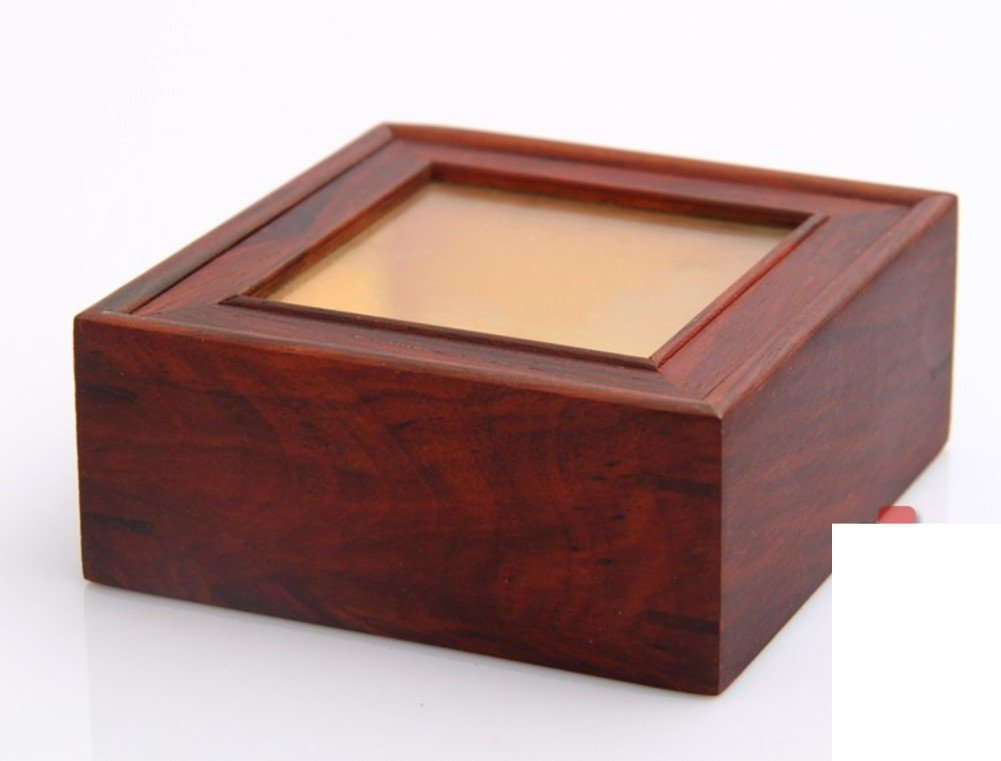 Amazon.com: Red rosewood mahogany glass collection boxes classic little wooden box wooden box square wood solid wood jewelry box: Home & Kitchen