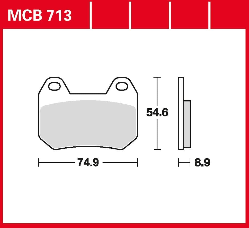 Bremsbelag TRW organischer Allround-Bremsbelag K 1200 LT ABS K589 K2LT 97-09 hinten