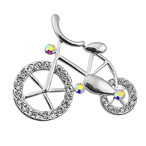 CHUYUN Beautiful Brooches Colorful Rhinestone Bike Bicycle Lovers Pectoral Flower Gift Brooch Pin For Women - Bike Brooch Pin