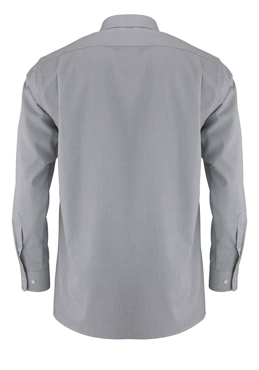 OLYMP Hemd slim line b/ügelfrei grau New Kentkragen in langarm 64cm