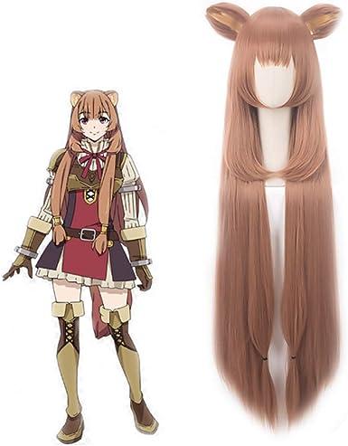 The Rising of the Shield Hero Raphtalia Wig Cosplay Long Brown Hair Anime Cute