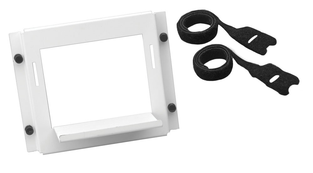 Leviton 47612-UBK Universal Shelf Bracket used with Structured Media Center, White