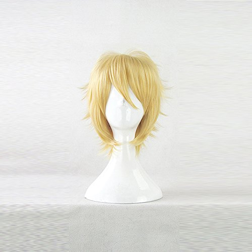 Price comparison product image Kimi ni Todoke Kento Miura Short Golden Cosplay Costume Wig + Free Wig Cap