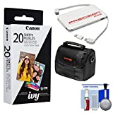 Canon ZINK Photo Paper Pack (20 Sheets) for IVY Mini Printers with Case + Power Bank Charger + Kit