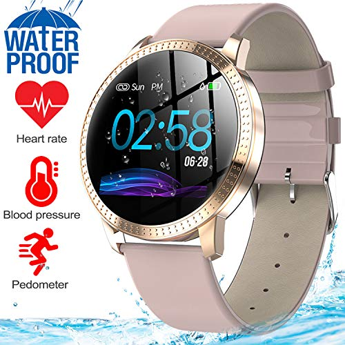 Rose Cpu - GBD Smart Watch Sport Activity Fitness Tracker with Heart Rate Blood Pressure Sleep Monitor Pedometer Waterproof Wrist Watch Wristband Fathers Day Birthday Gifts for Men Him Women (01 Rose Gold)