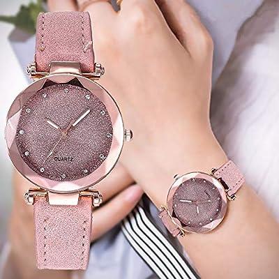 QUNANEN Women Wristwatch Ladies Fashion Korean Rhinestone Rose Gold Quartz Bracelet Watch Female Belt Watch (Gray): Toys & Games