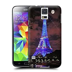 Unique Phone Case Paris Eiffel Tower and the Moon Hard Cover for samsung galaxy s5 cases-buythecase