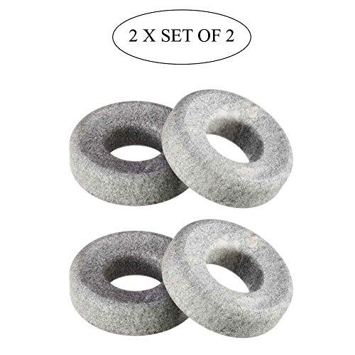 Cooling Eye Orbits, 100% Finnish Soapstone, 2 x Set of 2 by Hukka Design (Image #3)