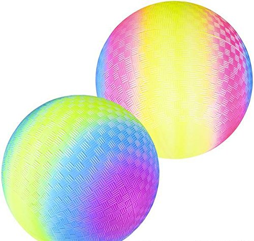 9'' RAINBOW PLAYGROUND BALL, Case of 50 by DollarItemDirect