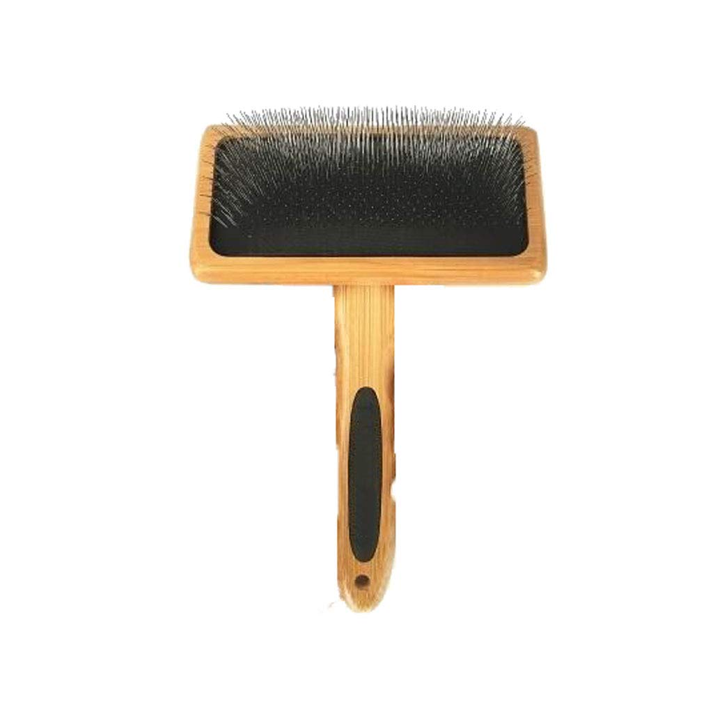 Lj pet brush Medium Square Dog cat Needle Comb Dog Comb Pull Hair Wooden Handle Needle Comb Small Medium and Large Dogs