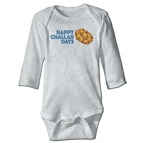 Richard Unisex Newborn Bodysuits Happy Challah Days Hanukkah Chanukah Boys Babysuit Long Sleeve Jumpsuit Sunsuit Outfit 18 Months (Personalized Personality Travel Candles)