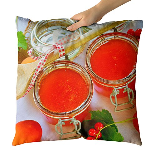 Raspberry Sauce Preserves (Westlake Art Fruit Preserve - Decorative Throw Pillow Cushion - Picture Photography Artwork Home Decor Living Room - 26x26 Inch)