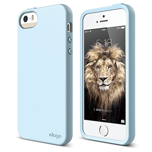 (iPhone SE case, elago [Flex][Cotton Candy Blue] - [Robust TPU][Shock Absorbing][Cushioned] - for iPhone SE/5/5S)