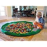Homecube Large 59 Inches Diameter Baby Kids Play Floor Mat Toy Storage Bag Organizer Green