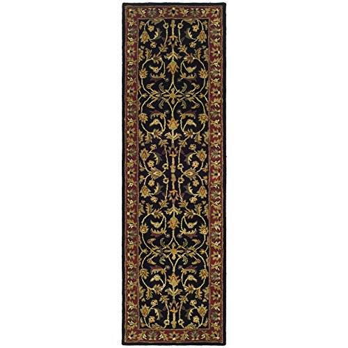 Safavieh Heritage Collection HG953A Handcrafted Traditional Oriental Black and Red Wool Runner (2'3