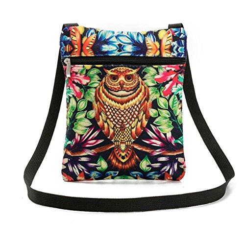 Owl Shoulder Yuan Bags Embroidered Bag Tote Handbags Women G Linen vwZqP1w