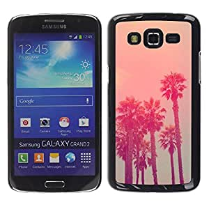 Paccase / SLIM PC / Aliminium Casa Carcasa Funda Case Cover para - California Vignette La State Sea - Samsung Galaxy Grand 2 SM-G7102 SM-G7105