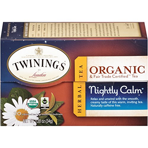 Twinings Organic Nightly Calm Tea, 20 Count Tea Bags
