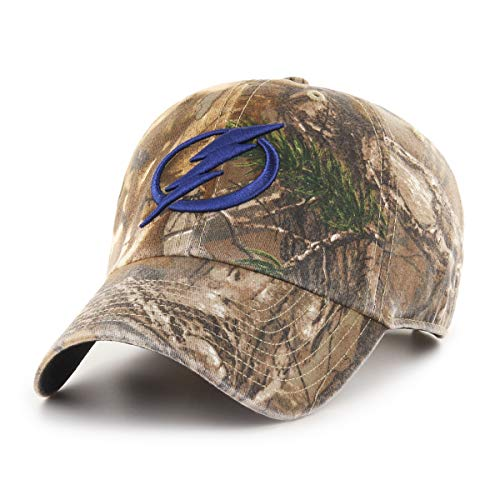 (NHL Tampa Bay Lightning Realtree OTS Challenger Adjustable Hat, Realtree Camo, One Size)