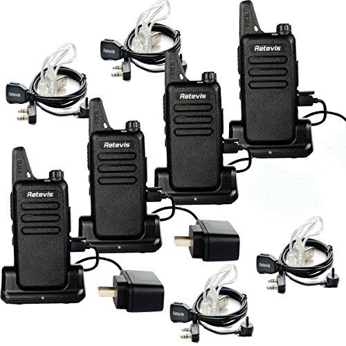 - Retevis RT22 Team Walkie Talkie 16 CH UHF 400-480MHz VOX Two Way Radios with USB Charging Base(4 Pack) and 2 Pin Covert Air Acoustic Earpiece(4 Pack)