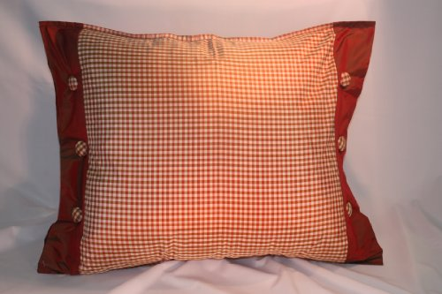 - Silk Pillows 18x24 100% Silk Pillows in Gingham Design (Shams)