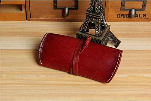 AMAZZANG-Handmade Mens Womens Real Leather Eye Glasses Case Fashion Sunglasses Pouch Bag - Warehouse Review Sunglass