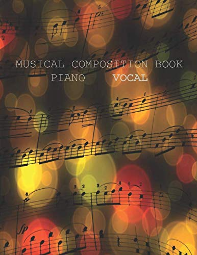 Drum Tab Books (Musical Composition Book: Piano Vocal: Blank Sheet Music for Beginner and Advanced Composers)