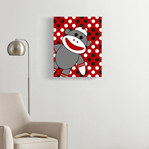 Cute baby print, funny kids wall art, funny Sock monkey art, funny ...