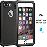 iPhone 7 Plus 8 Plus Waterproof Case, IP68 Case Clear Color by ASAKUKI, Certified Case, Full Body Protective, Shockproof, Scratch-proof, Dustproof Case With Sensitive Screen Protector