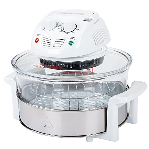 Air Grill - Classic Cuisine 12-17 Quart 1200W Halogen Tabletop Oven - White