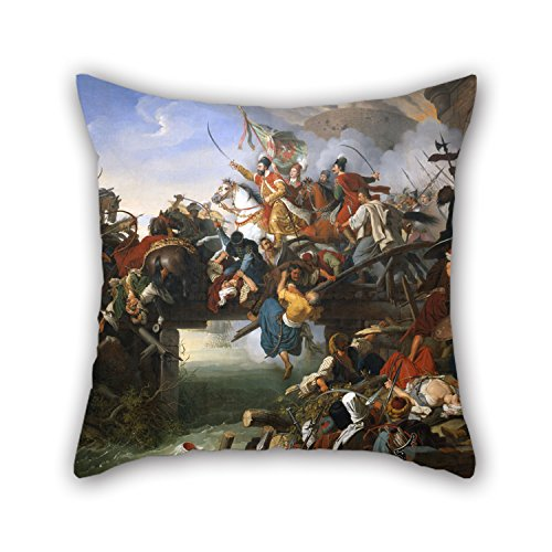 (Oil Painting Krafft, Peter - Zrínyi's Charge From The Fortress Of Szigetvár Pillow Shams 16 X 16 Inch / 40 By 40 Cm Gift Or Decor For Her,lover,relatives,bar Seat,relatives,office - Each Side)