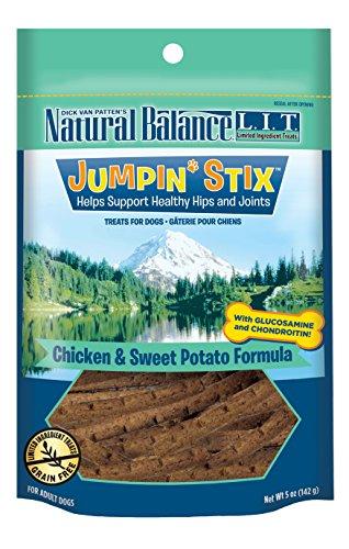 (Natural Balance L.I.T. Limited Ingredient Treats Jumpin' Stix Dog Treats, Grain Free, Chicken & Sweet Potato Formula, 5-Ounce)