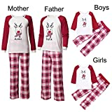 AutumnFall Clearance Sale!!Christmas Mommy &Daddy&Me Children Boys Girls Deer Plaid Letter Print Family Set Clothes (Size:L, Father)