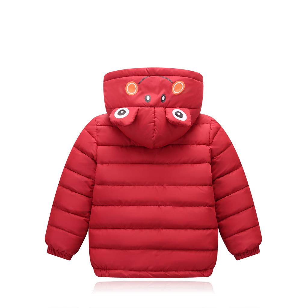 Babychoices Toddler Coat Kids Baby Boy Girl Winter Warm Thick Jacket Animal Cartoon Hooded Tops Clothes 0-7T