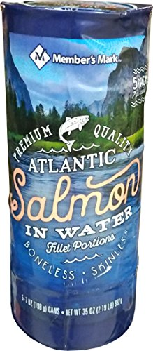 Member's Mark Atlantic Salmon (5 Pack-7 Oz), 35 Ounce (Salmon Sushi)