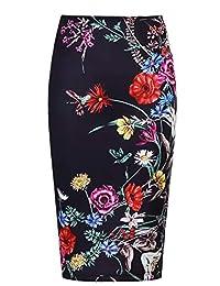 Women's High Waist Stretch Bodycon Pencil Skirt