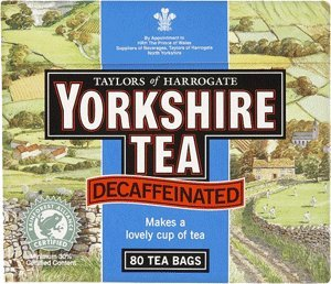 Yorkshire Decaffeinated Tea, 80 Teabags by Yorkshire